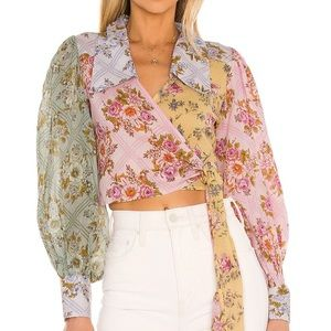 Free People Lucky Penny Wrap Top